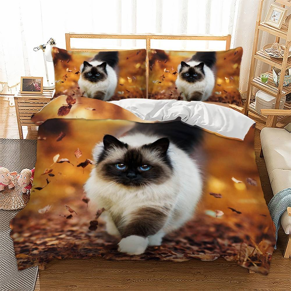 For Pet Fans Home Decors 3D Bedding Set Cat Printed  My Pet World Store
