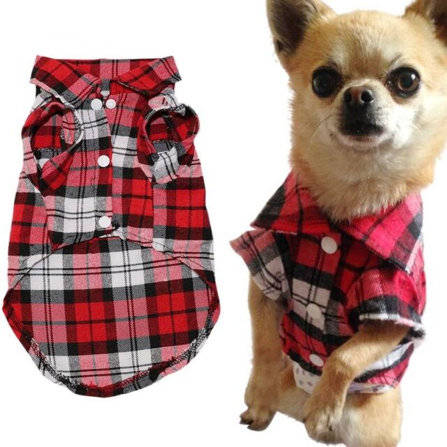 Soft Summer Plaid Vest For Small Dogs  My Pet World Store