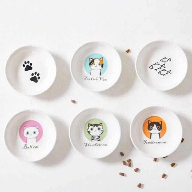 Creative Cute Cat Small Saucer Shape Mini Ceramics Plate  My Pet World Store