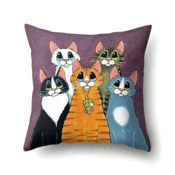 Cat Print Cushion Cover  My Pet World Store