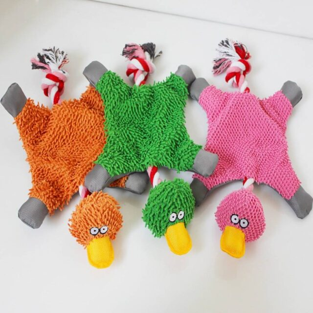 New Arrivals Toys Funny Fluffy Duck Plush Dog's Toy  My Pet World Store