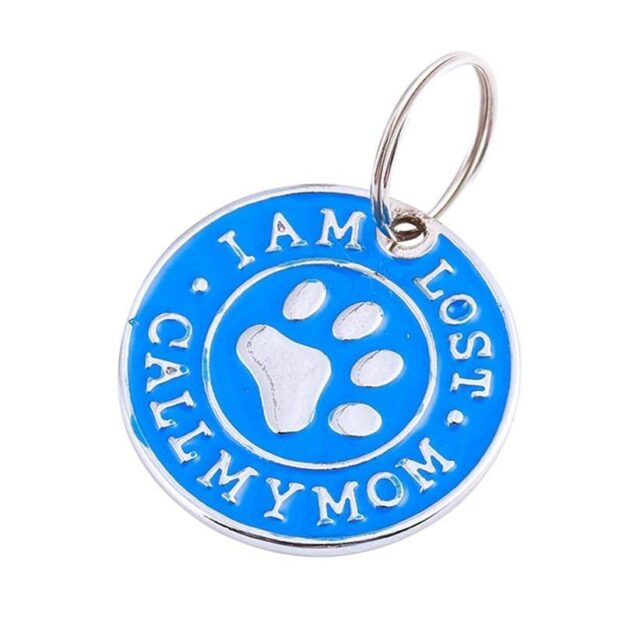 I AM LOST CALL MY MOM Round Shape Pet Tag  My Pet World Store