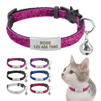 Cats Collars, Harnesses & Leashes Personalized Quick Release Cat ID Tag Collar  My Pet World Store