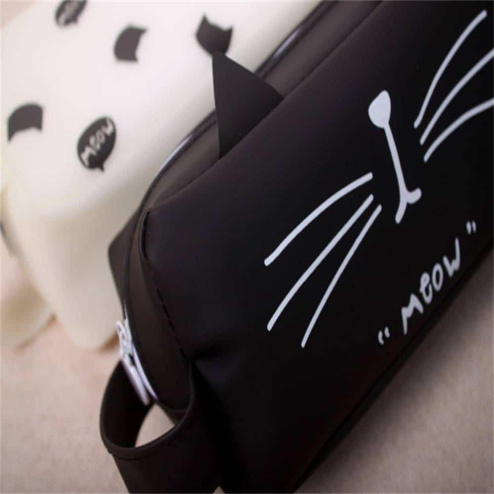 Cute Cat Patterned Pencil Case