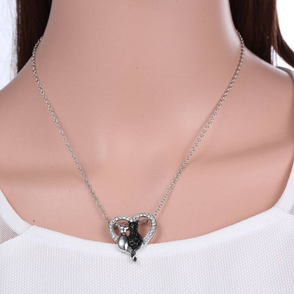Vintage Style Cats Necklace