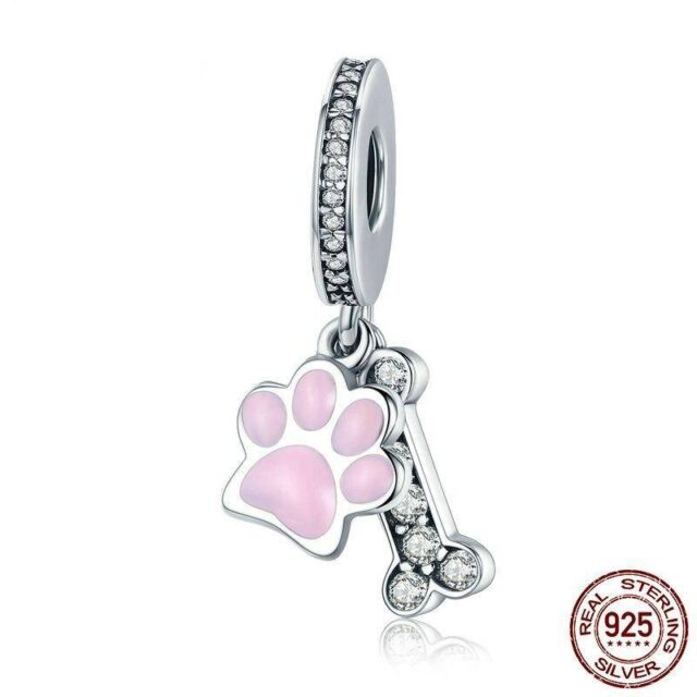 For Pet Fans Jewelry & Watches New Arrivals 925 Sterling Silver Dog Footprint Pendant Charm  My Pet World Store