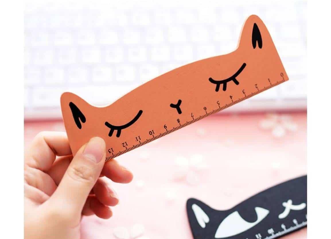 For Pet Fans Office & School Supplies Cat Shaped Wooden Ruler  My Pet World Store