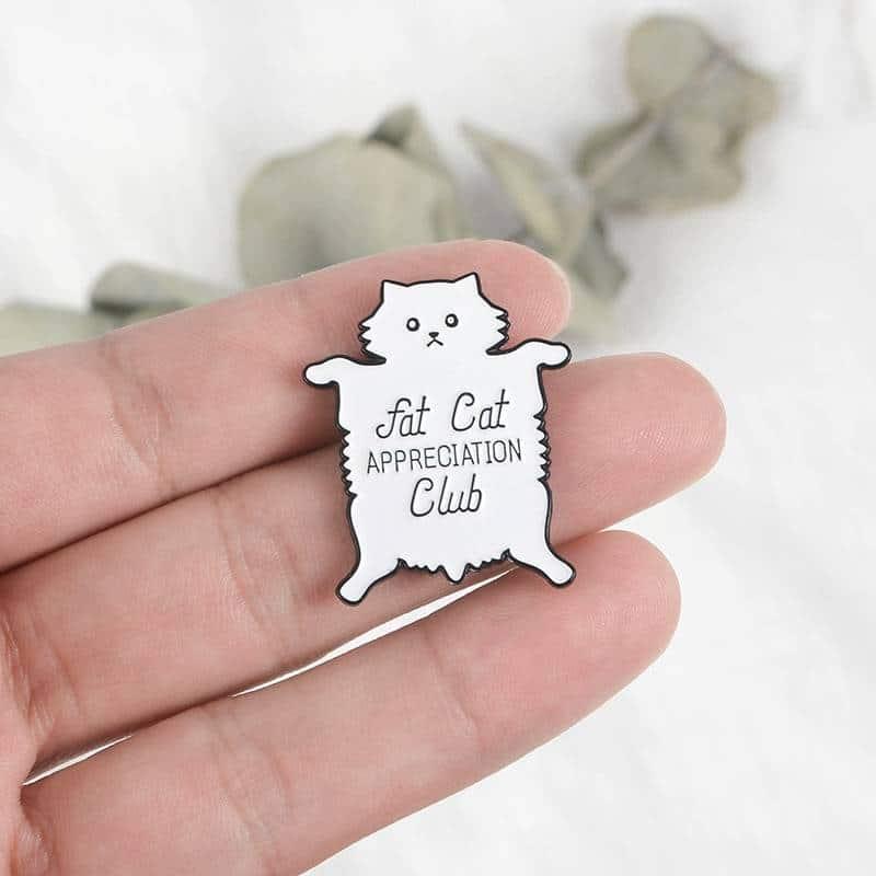 Cat Themed Metal Pin