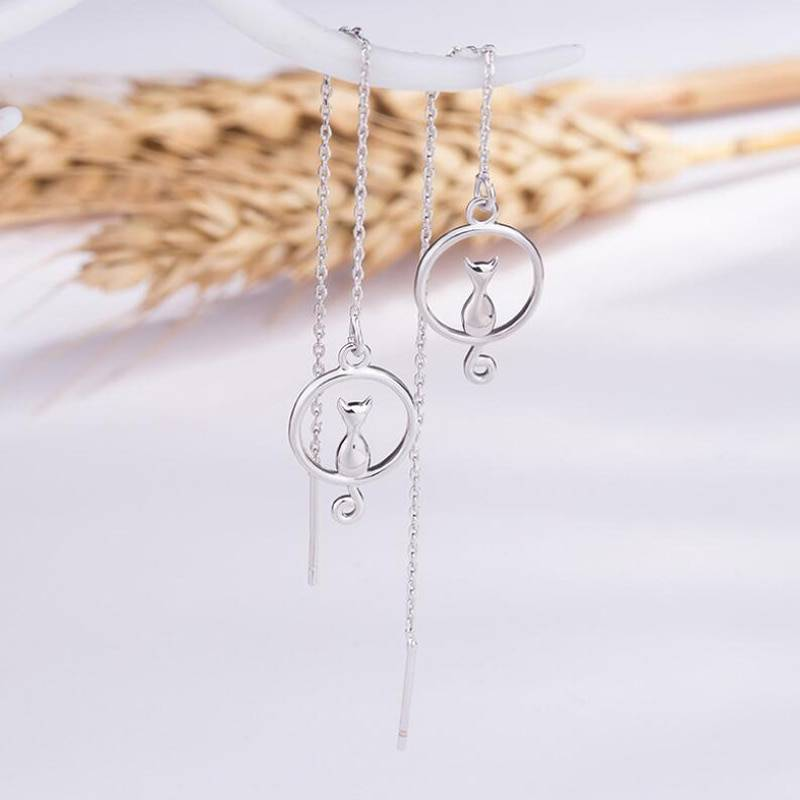For Pet Fans Jewelry & Watches New Arrivals Cat on the Moon Women's Drop Earrings  My Pet World Store