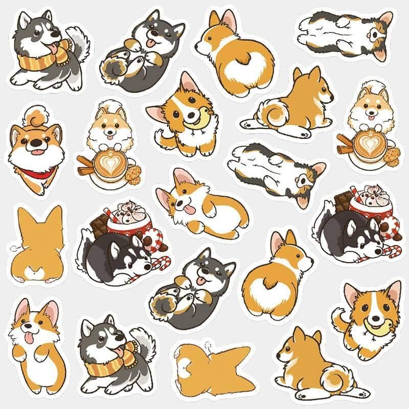Corgi Dog Decorative Stickers
