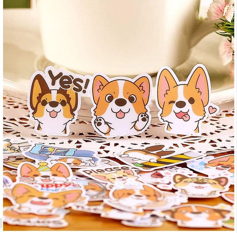For Pet Fans Office & School Supplies Creative Cartoon Dog Diary Stickers Set  My Pet World Store
