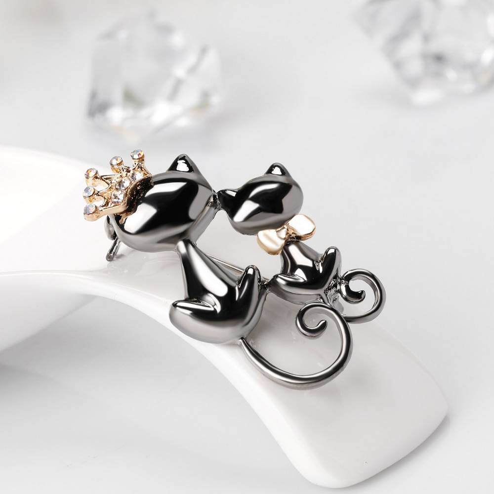 For Pet Fans Jewelry & Watches New Arrivals Cute Cat Couple Brooch  My Pet World Store