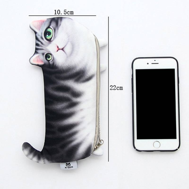 For Pet Fans Office & School Supplies Cute Cat Printed Pencil Case  My Pet World Store