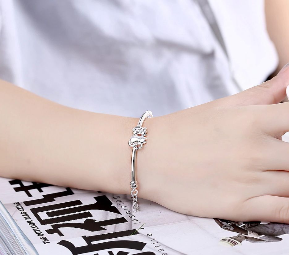 For Pet Fans Jewelry & Watches New Arrivals Lovely Cats Shaped Silver Plated Women's Chain Bracelet  My Pet World Store