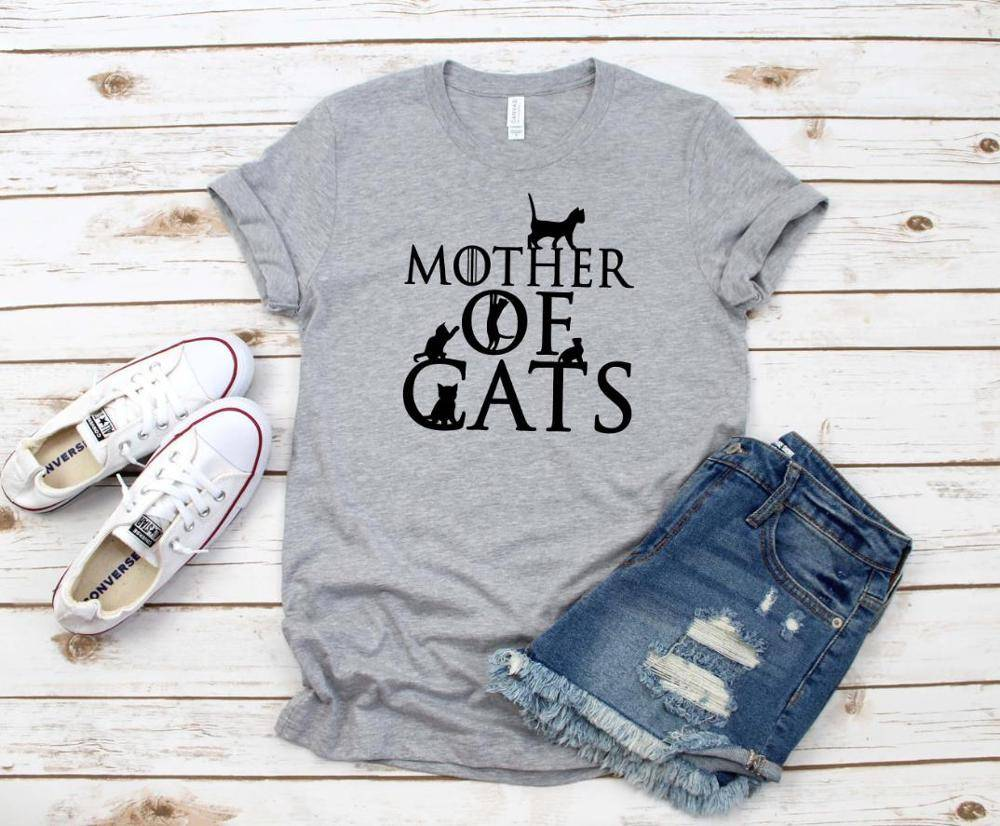 Mother of Cats Printed T-Shirt
