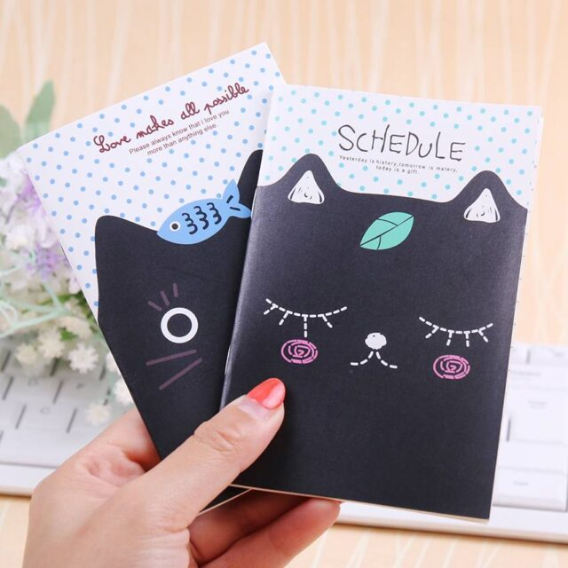 For Pet Fans Office & School Supplies Notebooks with Cute Cat Designs  My Pet World Store