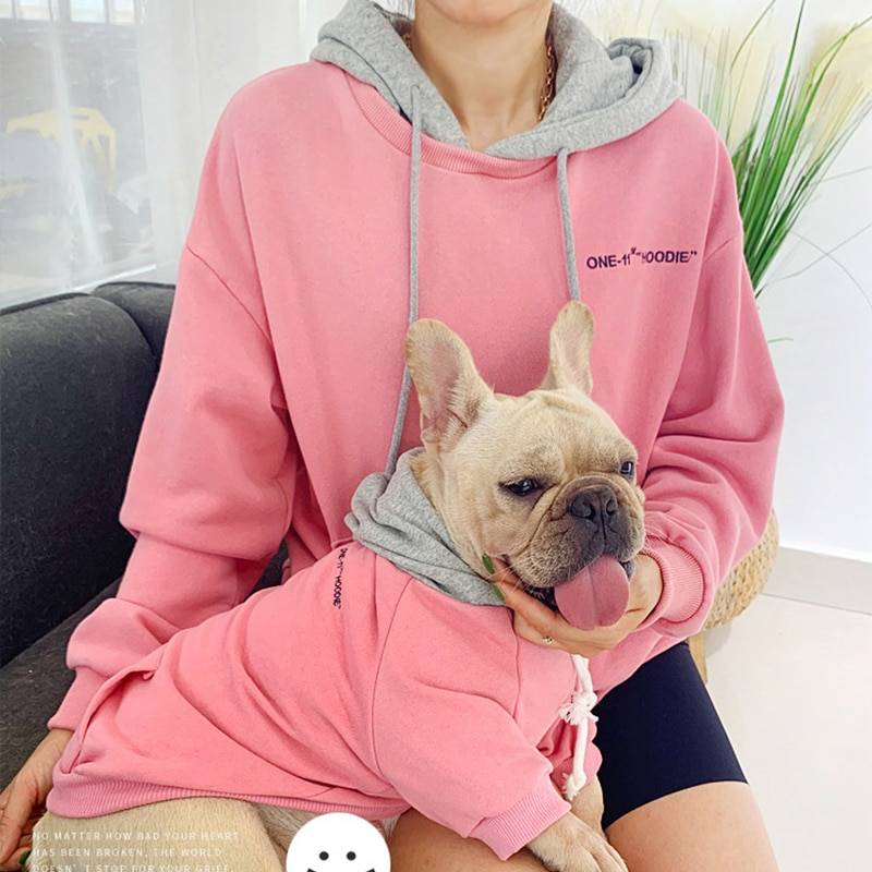 Matching Owner Clothes New Arrivals Warm Soild Color Owner and Pet Matching Hooides Set  My Pet World Store