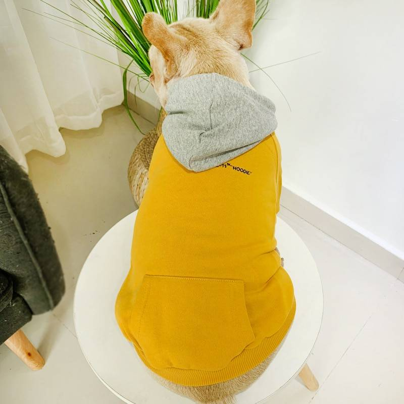 Warm Soild Color Owner and Pet Matching Hooides Set