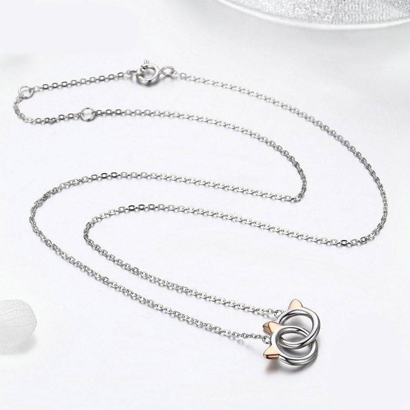 For Pet Fans Jewelry & Watches New Arrivals Women's 925 Sterling Silver Cat Patterned Neckalce  My Pet World Store