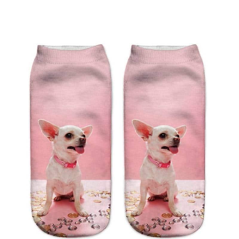 For Pet Fans Leggings & Socks Women's Little Dog 3D Print Socks  My Pet World Store