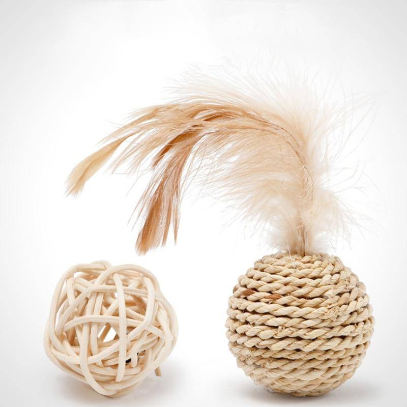 Cats Toys Bamboo Ball Cat Toys Pair  My Pet World Store