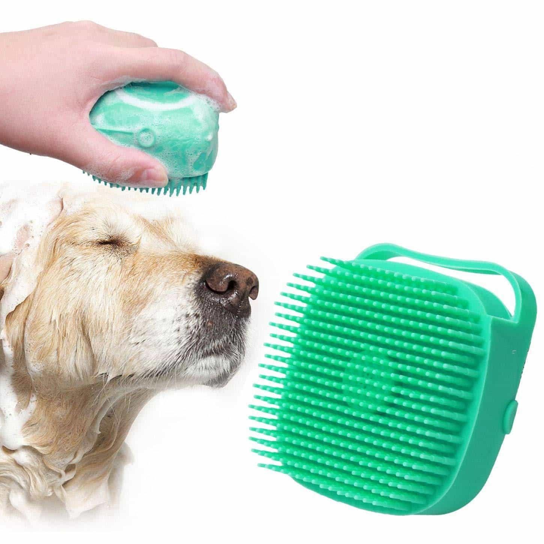 Dogs Grooming & Care Dog Bath Massage Brush with Shampoo Dispenser  My Pet World Store